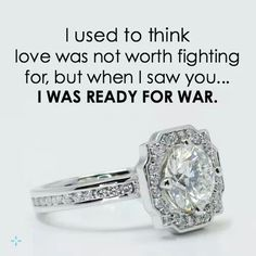 I would fight the war with you..! LMD