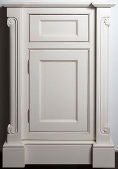 the inside profile of the ashbury mdf door compliments the single bead inset frame cabinet the ionian carved corner posts add some intricate detail and