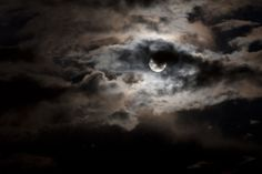 Backlit clouds and Luna