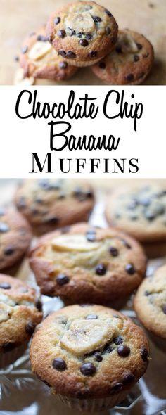 Chocolate Chip Banana Muffins - Erren's Kitchen
