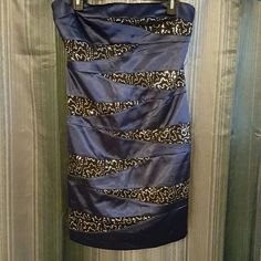 Navy Blue Formal / Night Out Dress With Sequins