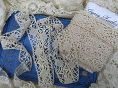 Antique early 1900s Silk Armenian Needle Lace by GypsyFeather, $4.50