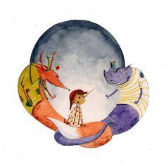 Di noi ti puoi fidar! by IreneMontano on DeviantArt #fantasy #catfox #childrensillustration #pinocchio