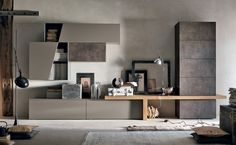 Sectional storage wall UNIT By Gruppo Tomasella Home And Living, House Interior, Home, Living Room Tv, Interior, Interior Furniture, Wall Unit, Living Room Wall Units, Living Room Designs