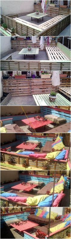 Everyone knows that buying a new lounge to decor our place will be very expensive, that is why this recycled pallets project can help you to craft something valuable and appealing for your home but also at a reasonable cost.