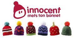 Deux tutos pour réaliser des mini-bonnets pour une bonne cause: Innocent pour les Petits Frères des Pauvres.