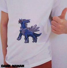 T-shirt pokémon Dialga | Dark Maman point de croix, broderie, cross stitch