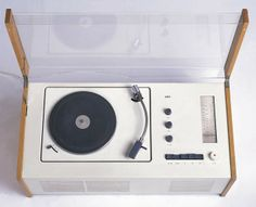Phonosuper SK55 turntable and receiver. Designed by Dieter Rams, Hans Gugelot, manufactured by Braun AG. Frankfurt, Germany, 1956. Gift of Barry Friedman and Patricia Pastor, 1986-99-6. - See more at: http://www.cooperhewitt.org/object-of-the-day/2013/09/24/apple-inspiration#sthash.sBY8OtFl.dpuf