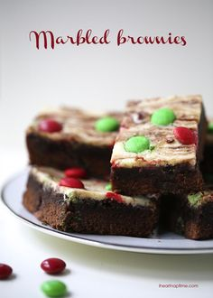 Marbled brownies recipe with a cheesecake topping! YUM!