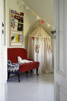 inviting play space- love this for Josey's playroom.  It is so much cuter than all the random crap she has in there.