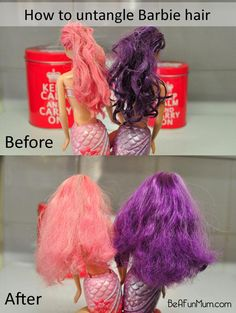 How to untangle Barbie hair (or My Little Pony, or whoever)