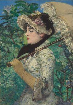 """65,1 Millionen Dollar und damit Toplos bei Christie's und neuer Rekord für Edouard Manet: """"Le Printemps"""", das Bild der Schauspielerin Jeanne Demarsy beim Frühlings-Spaziergang, war zum ersten Mal auf dem Auktionsmarkt – und hing bis vor kurzem als Leihgabe in der National Gallery of Art in Washington. MANET Der erste Besitzer des Gemäldes war Manets Freund, der Journalist und Politiker Antonin Proust"""