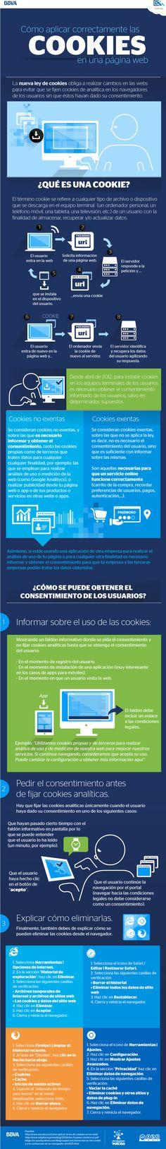 Cómo aplicar las cookies en una página web #infografia #infographic
