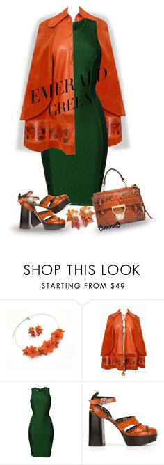 """""""Emerald City: Pops of Green"""" by ganing on Polyvore featuring мода, Hervé L. Leroux, Robert Clergerie и emeraldgreen"""
