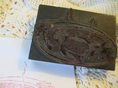 Steak On A Plate Vintage Printers Block by LeapingFrogDesigns, $12.95