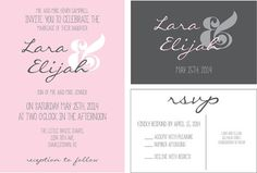 Script wedding invitations personalized by Personalised Wedding Invitations, Pink Invitations, Little White Chapel, Script, Marriage, Place Card Holders, Handmade, Casamento, Hand Made