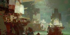 Kite City 2 - Guild Wars 2, Theo Prins on ArtStation at https://www.artstation.com/artwork/kite-city-2-guild-wars-2