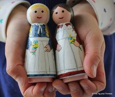 Laura and Mary Peg Dolls Set of Two - via Etsy.