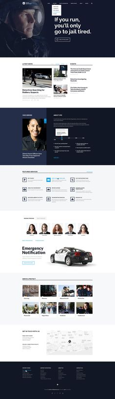 Police Department theme has a lot of usefull features to build a website for police department, policemen jobs and careers, any security-related website, a website for a non-profit or govermental organization, for security business and body guards.