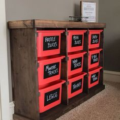 DIY Storage Idea!!  My daughter and son-in law made their youngins a toy storage like this! Awesome idea for our garage too!