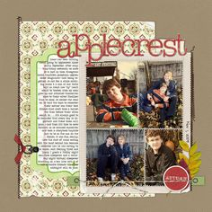 Fall Scrapbook Page by Debbie Hodge | GetItScrapped.com/blog