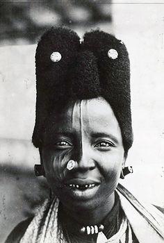 Africa   Portrait taken in Moroua, Cameroon. ca. 1919 - 1939    Photographer unknown