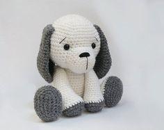 PATTERN : Dog - Puppy - Amigurumi dog pattern - Crochet pattern-Knitted Stuffed animals- doll-toy-baby shower