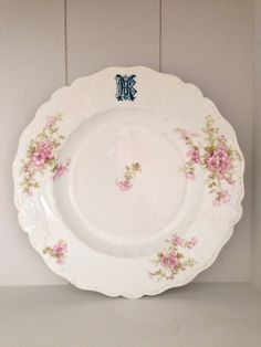 Medium Antique French Limoges plate with by SouthofFranceFinds