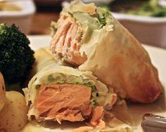 A Little Bit Greedy: A lighter route to en croûte: salmon filo parcels