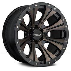 22x10 Helo Wheels -18 | 8x165.1 | 125.5 He901 Rims Satin Black With Dark Tint #car #truck #parts #wheels, #tires #wheel #lugs #he90122080918n