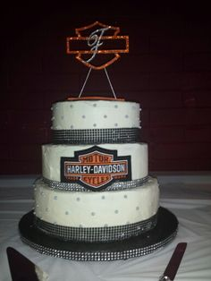 Harley Davidson Wedding Cake For Roger Yvette