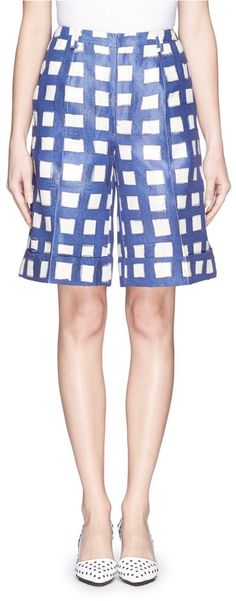 CHICTOPIA Grid check shorts