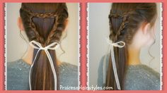 Braided Triangle or Heart Hairstyle, Valentine's Hairstyles