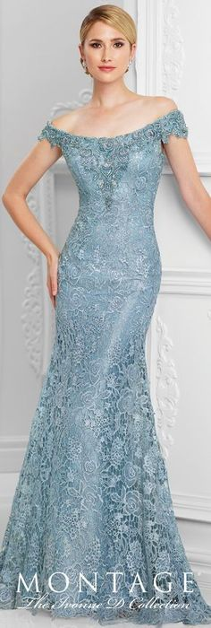 D - Evening Dresses - Formal Evening Gowns by Mon Cheri - Spring 2017 - Style No. - wedgwood blue tulle and embroidered lace evening dressFormal Evening Gowns by Mon Cheri - Spring 2017 - Style No. - wedgwood blue tulle and embroidered lace evening dress Lace Evening Dresses, Elegant Dresses, Pretty Dresses, Evening Gowns, Bridesmaid Dresses, Prom Dresses, Formal Dresses, Bride Dresses, Office Dresses