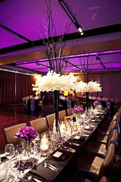 love the floral centrepieces tablescapes-event-decor