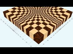 """3D end grain cutting board #1 to make with the use of 13"""" planer (version for woodworkers) - YouTube"""