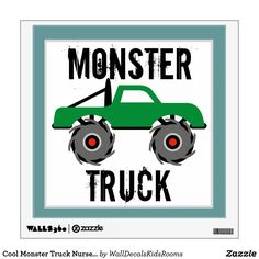Cool Monster Truck Nursery Kids Wall Decal