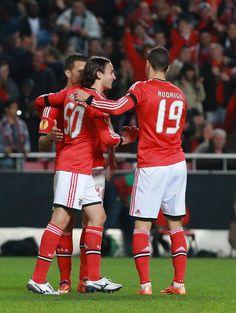 Lima (11), Markovic (50) e Rodrigo (19) | Benfica - PAOK (3-0) | 16avos final Liga Europa | 27.02.2014 | Golos de Gaitán, Lima (penalti) e Markovic