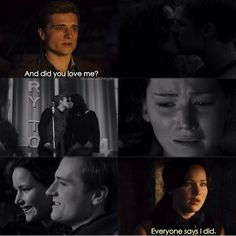 Why won't she just admit it?!? Hunger games mockingjay