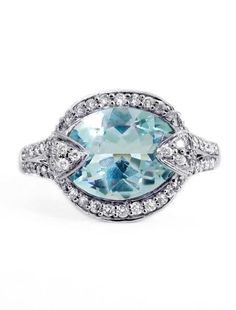 PETRA - I WANT THIS RING!!! - ALSO, I'VE WANTED TO GO TO PETRA FOR SOOO MANY YEARS, AND THIS IS A SIGN THAT I'M MEANT TO HAVE THIS RING. - This ring includes a 3.20 carat oval aquamarine set in recycled 14k white gold with diamond accents for $2900.