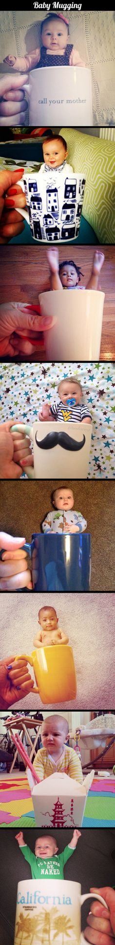 this is hilarious! Baby Mugging // funny pictures - funny photos - funny images - funny pics - funny quotes - Funny Cute, The Funny, Hilarious, Super Funny, The Meta Picture, Foto Baby, I Love To Laugh, Funny Photos, Funny Images