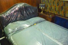"""Elvis Presley's Bed Onboard His Convair 880, The """"Lisa Marie,"""" Memphis, Tennessee"""