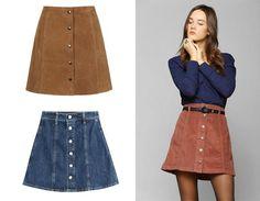 tendencia en faldas de botones 2016 - Buscar con Google