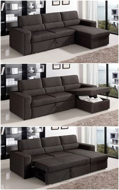 Sofa beds are great space-savers, but they can often be a bit of an eye sore. But once in a while you can luck out and find some really great options that will Sofa Cumbed Design, Sofa Set Designs, Living Room Sofa Design, Living Room Designs, Living Room Decor, Interior Design, Luxury Interior, Modern Interior, Design Design