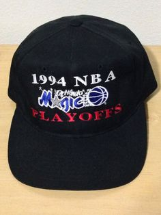 4e6f21f17b2ee Starter Orlando Magic 90s NBA Playoffs Shaq Snapback Black Hat Cap