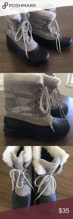 Thinsulate Winter boots Rubber sole and leather.  Extremely warm and great for the outdoors.  Only used one time when I went up to the mountains.  This is now collecting dust.  Size 7 but can fit 7.5. Thinsulate  Shoes Winter & Rain Boots