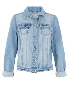 A wardrobe essential: the Pale Blue Denim Jacket that will go with everything, trust us.