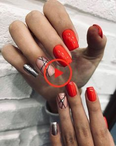 You are in the right place about nails sencillas Here we offer you the most beautiful pictures about the nails you are looking for. Hot Nails, Hair And Nails, Dark Nails, Nail Candy, Stylish Nails, Nagel Gel, Creative Nails, Manicure And Pedicure, Nails Inspiration