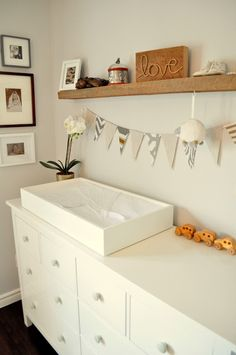 Baby nursery on pinterest elephant nursery elephant - Deco chambre bebe fille ikea ...