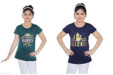 Tshirts Elegant Cotton Kid's Girl T-Shirts Fabric: Cotton Sleeves: Short Sleeves Are Included Sies: Age Group (8 - 9 Years) - 30 in Age Group (9 - 10 Years) - 32 in Age Group (10 - 11 Years) - 32 in Age Group (11 - 12 Years) - 34 in Age Group (12 - 13 Years) - 34 in Age Group (13 - 14 Years) - 36 in Type: Stitched Description: It Has 2 Pieces Of Kid's Girl T-Shirt Country of Origin: India Sizes Available: 8-9 Years, 9-10 Years, 10-11 Years, 11-12 Years, 12-13 Years, 13-14 Years   Catalog Rating: ★4.3 (1975)  Catalog Name: Latest Elegant Cotton Kid's Girl T-Shirts Vol 2 CatalogID_556682 C62-SC1143 Code: 082-3949166-
